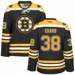Women's Boston Bruins Jordan Caron Reebok Gold Authentic Black/ Home NHL Jersey
