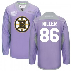 Adult Boston Bruins Kevan Miller Reebok Purple Premier 2016 Hockey Fights Cancer Practice NHL Jersey