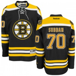 Adult Boston Bruins Malcolm Subban Reebok Black Authentic Home NHL Jersey