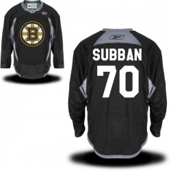 Adult Boston Bruins Malcolm Subban Reebok Black Authentic Practice Alternate NHL Jersey