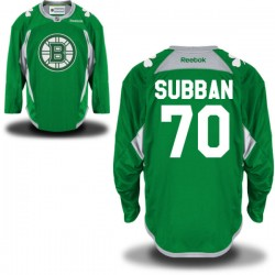 Adult Boston Bruins Malcolm Subban Reebok Green Authentic St. Patrick's Day Practice NHL Jersey