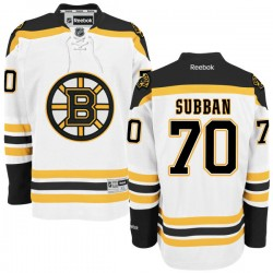 Adult Boston Bruins Malcolm Subban Reebok White Authentic Away NHL Jersey