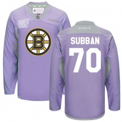 Adult Boston Bruins Malcolm Subban Reebok Purple Premier 2016 Hockey Fights Cancer Practice NHL Jersey