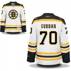 Women's Boston Bruins Malcolm Subban Reebok White Authentic Away NHL Jersey