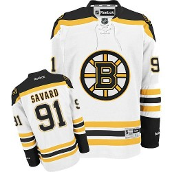 Adult Boston Bruins Marc Savard Reebok White Authentic Away NHL Jersey