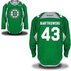 Adult Boston Bruins Matt Bartkowski Reebok Green Authentic St. Patrick's Day Practice NHL Jersey