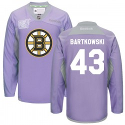 Adult Boston Bruins Matt Bartkowski Reebok Purple Authentic 2016 Hockey Fights Cancer Practice NHL Jersey