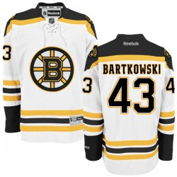 Adult Boston Bruins Matt Bartkowski Reebok White Authentic Away NHL Jersey