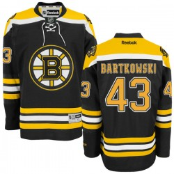 Adult Boston Bruins Matt Bartkowski Reebok Black Premier Home NHL Jersey