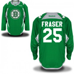 Adult Boston Bruins Matt Fraser Reebok Green Authentic St. Patrick's Day Practice NHL Jersey