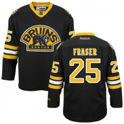 Adult Boston Bruins Matt Fraser Reebok Black Premier Alternate NHL Jersey