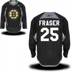 Adult Boston Bruins Matt Fraser Reebok Black Premier Practice Alternate NHL Jersey