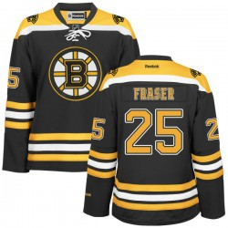 Women's Boston Bruins Matt Fraser Reebok Gold Authentic Black/ Home NHL Jersey