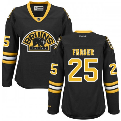 Women's Boston Bruins Matt Fraser Reebok Black Premier Alternate NHL Jersey