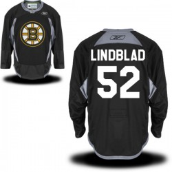 Adult Boston Bruins Matt Lindblad Reebok Black Authentic Practice Alternate NHL Jersey