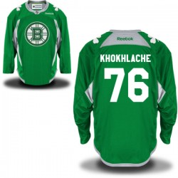 Adult Boston Bruins Alex Khokhlachev Reebok Green Authentic St. Patrick's Day Practice NHL Jersey