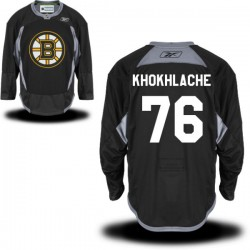 Adult Boston Bruins Alex Khokhlachev Reebok Black Premier Practice Alternate NHL Jersey