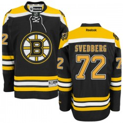 Adult Boston Bruins Niklas Svedberg Reebok Black Authentic Home NHL Jersey