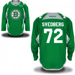 Adult Boston Bruins Niklas Svedberg Reebok Green Authentic St. Patrick's Day Practice NHL Jersey