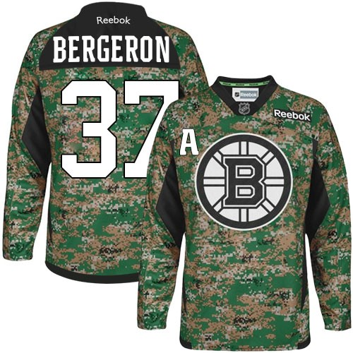 differently 2e97d 4524b Adult Boston Bruins Patrice Bergeron Reebok Camo Authentic Veterans Day  Practice NHL Jersey 46,48,50,52,54,56,60