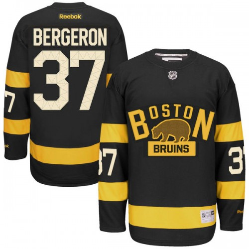 Youth Boston Bruins Patrice Bergeron Reebok Black Premier 2016 Winter Classic NHL Jersey