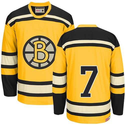 Adult Boston Bruins Phil Esposito CCM Gold Authentic Throwback NHL Jersey