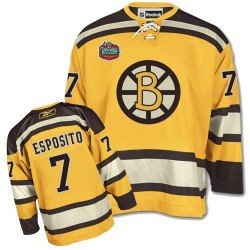 Adult Boston Bruins Phil Esposito Reebok Gold Authentic Winter Classic NHL Jersey