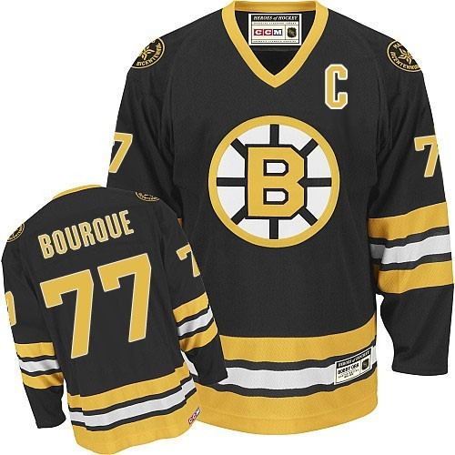 Adult Boston Bruins Ray Bourque CCM Black Authentic Throwback NHL Jersey