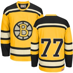 Adult Boston Bruins Ray Bourque CCM Gold Authentic Throwback NHL Jersey