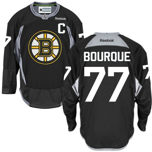 Adult Boston Bruins Ray Bourque Reebok Black Authentic Practice NHL Jersey