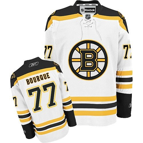 Adult Boston Bruins Ray Bourque Reebok White Authentic Away NHL Jersey