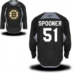 Adult Boston Bruins Ryan Spooner Reebok Black Authentic Practice Alternate NHL Jersey