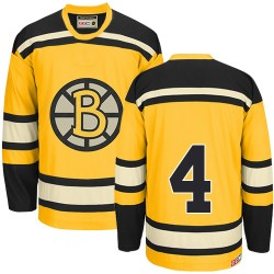 Adult Boston Bruins Bobby Orr CCM Gold Authentic Throwback NHL Jersey