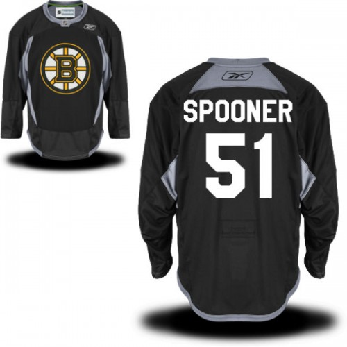 Adult Boston Bruins Ryan Spooner Reebok Black Premier Practice Alternate NHL Jersey