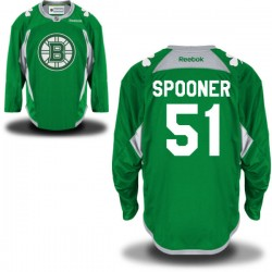 Adult Boston Bruins Ryan Spooner Reebok Green Premier St. Patrick's Day Practice NHL Jersey