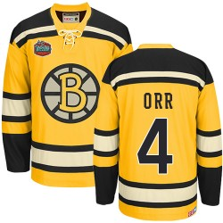 Adult Boston Bruins Bobby Orr CCM Gold Authentic Winter Classic Throwback NHL Jersey