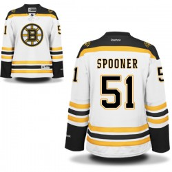 Women's Boston Bruins Ryan Spooner Reebok White Authentic Away NHL Jersey