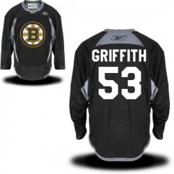 Adult Boston Bruins Seth Griffith Reebok Black Authentic Practice Alternate NHL Jersey