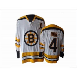 Adult Boston Bruins Bobby Orr CCM White Authentic Throwback NHL Jersey