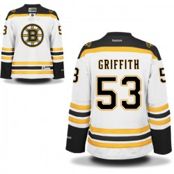 Women's Boston Bruins Seth Griffith Reebok White Authentic Away NHL Jersey