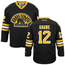 Adult Boston Bruins Simon Gagne Reebok Black Authentic Alternate NHL Jersey
