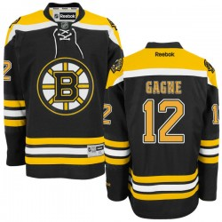 Adult Boston Bruins Simon Gagne Reebok Black Authentic Home NHL Jersey