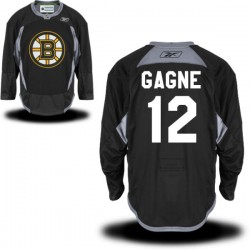 Adult Boston Bruins Simon Gagne Reebok Black Authentic Practice Alternate NHL Jersey