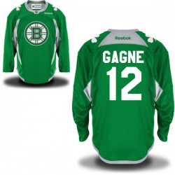 Adult Boston Bruins Simon Gagne Reebok Green Premier St. Patrick's Day Practice NHL Jersey