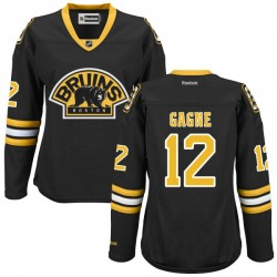 Women's Boston Bruins Simon Gagne Reebok Black Authentic Alternate NHL Jersey