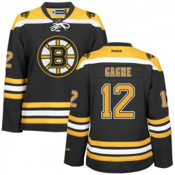 Women's Boston Bruins Simon Gagne Reebok Gold Authentic Black/ Home NHL Jersey