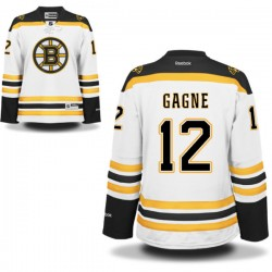 Women's Boston Bruins Simon Gagne Reebok White Authentic Away NHL Jersey