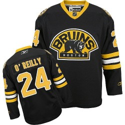 Adult Boston Bruins Terry O'Reilly Reebok Black Authentic Third NHL Jersey
