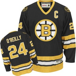 Adult Boston Bruins Terry O'Reilly Reebok Black Premier Home NHL Jersey