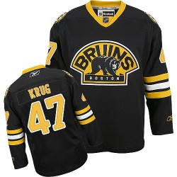 Adult Boston Bruins Torey Krug Reebok Black Authentic Third NHL Jersey